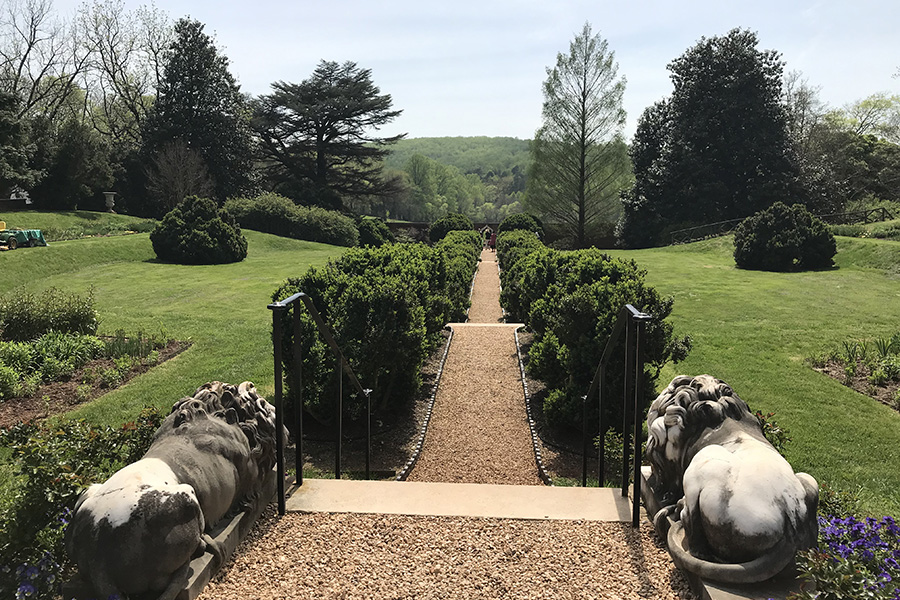 James Madison's Montpelier historic site gardens