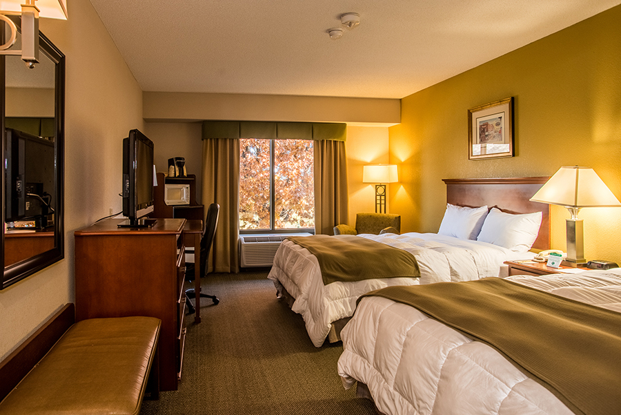 ADA accessible hearing impaired room with two queen beds at Round Hill Inn Orange Virginia